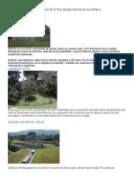 Sitios Arquelogicos de Guatemala