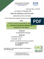 La mise au point d'un procede  - KHOUBANE Lahoucine_2886.pdf