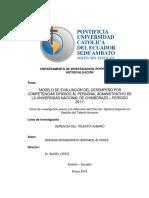 Proyecto evaluacion del desempeno por competencias