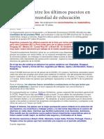 Argentina y su Educación