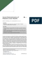 Social Determinants of Pediatric Oral Health