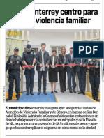 04-03-19 Abre Monterrey centro para abatir violencia familiar