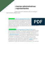 Principales Teorías Administrativas