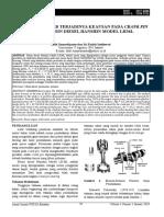 Analisis penyebab permukaan piston aus