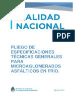 PLIEGO MICROAGLOMERADOS ASFALTICOS DNV