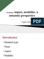 Tense aspect modality
