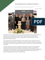 25-03-2019 Rinde Gobernadora homenaje póstumo al arquitecto Gustavo F Aguilar Beltrán - Canal Sonora