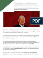26-03-2019 Se invertirán 600 millones para proyectos en la frontera AMLO - ADN 40