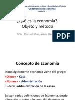 Objeto y Metodo de La Economia