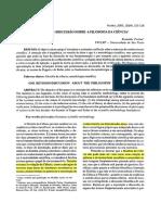 Texto 1 Para 06.04 -Reinaldo Furlan - Uma Revisão Sobre a Filosofia Da Ciencia