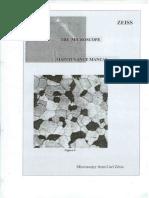Manual de mantenimiento microscopios