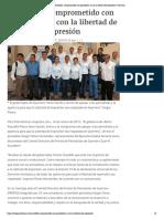 17-03-2019 Astudillo, comprometido con periodistas y con la libertad de expresión.