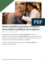 22-03-2019 Héctor Astudillo posiciona a Acapulco como destino predilecto de congresos.