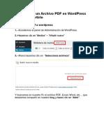 Como Subir Un Archivo PDF en WordPress Para Compartirlo