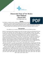 Democratic Party of New Mexico Platform - Online Version