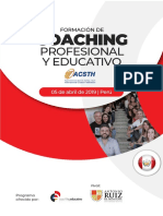 Programa Coaching Profesional y Educativo 2019