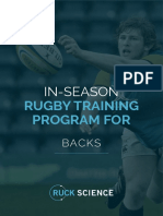 In Season Training Program Backs