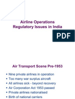 Airline Operations Regulatory Issues in India