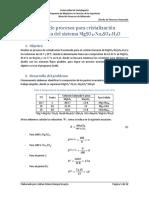 Diseño de un proceso de cristalizacion fraccionada
