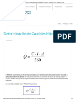 Determinación de Caudales Máximos Con El Método Racional – Tutoriales Al Día – Ingeniería Civil