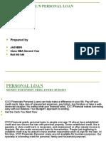 ICICI Financial Personal Loan