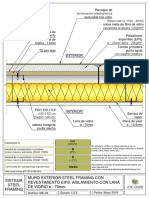 Muro exterior steel framing con distintos tipos de revestimiento interior