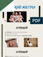 Gestação Múltipla - Slides Final