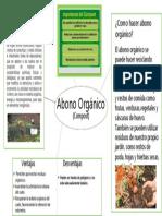 Infografía Abono Orgánico (Compost)