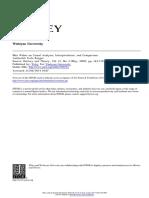 Fritz R, Max Weber on Causal Analysis, Interpretation, And Comparison, 2002