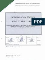 0-(importante) ANDE - Poste  H°A seccion DOBLE T, lineas aereas - EE TT  03 10 12 - Rev  2