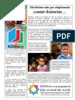 Kidstory Flyer Spanish