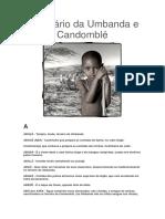 Dicionário Da Umbanda e Candomblé