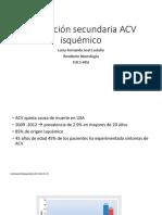 Prevención secundaria ACV isquémico