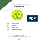 Laporan Ekologi Dasar_rimbi Brahma Cari_kelompok 5_biologi a 2016