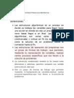 ESTRUCTURAS ALGORITMICASS