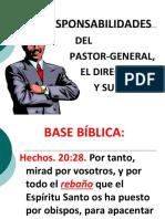 Leccion 7. Responsabilidades Del Pastor General.