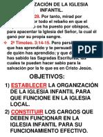 Leccion 4. Organización Iglesia Infantil