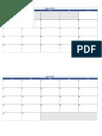 Calendario - 2019