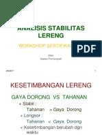 Workshop Slope Stability
