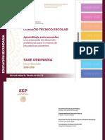 Consejo Tecnico Escolar - Sexta Sesion - Aprendizaje entre escuelas - Secundaria - Ciclo escolar 2018-2019