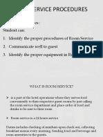 8th Week Room Service Procedures