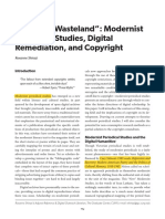 "A ""Digital Wasteland""- Modernist Periodical Studies, Digital Remediation, And Copyright"