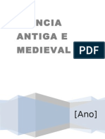 CIENCIA ANTIGA  E MEDIEVAL