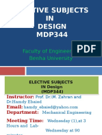 Introduction to Elective Design