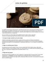 Como veganizar galletas