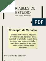 Variables de Estudio