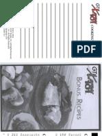 GTX101 Bonus Recipes