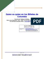 Quien es quién en los billetes de Colombia