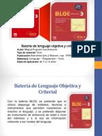 BATERIA DE LENGUAJE OBJETIVA Y CRITERIAL