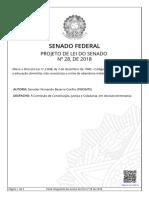 Projeto de Lei Do Senado Nº 28-2018